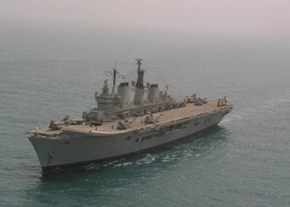 HMS ARk Royal off the Kuwaiti coast, 12th March 2003 (photograph copyright Tim Ripley)
