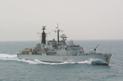 HMS Liverpool off the Kuwaiti coast, 12th March 2003. Photograph copyright Tim Ripley